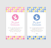 Baby Baptism Card Stock Photos