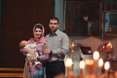 Baby baptism Royalty Free Stock Photography