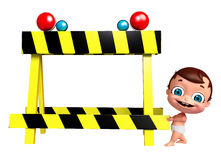 Baby with Barricade. 3D Render of baby with Barricade Royalty Free Stock Photography