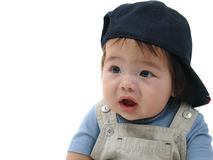 Baby with baseball cap Stock Images