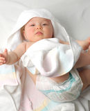 Baby after bath #15 Stock Photography