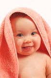 Baby after bath #15 Royalty Free Stock Images