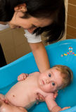Baby in bath Royalty Free Stock Image