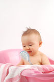 Baby bath #17 Royalty Free Stock Images