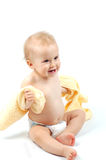 Baby after bath #21 Royalty Free Stock Photos