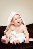 Baby after bath Stock Photo
