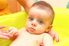 Baby bath Stock Images