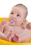 Baby in a bath Royalty Free Stock Images