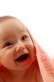 Baby after bath Stock Photos