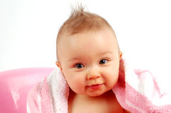 Baby after bath #34 Stock Images