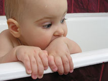 Baby from bath stock photography