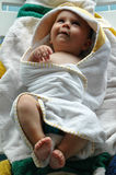 Baby after bath Stock Images