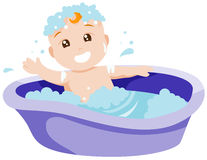 Baby Bath Stock Photos