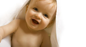 Baby after bath Royalty Free Stock Photos