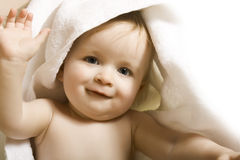 Baby after bath Stock Image