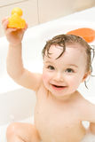 Baby in bath Stock Photo