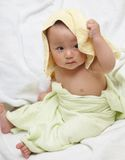 Baby after bath Royalty Free Stock Photo