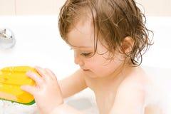 Baby in bath Stock Photos