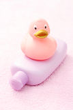 Baby bath accessories Royalty Free Stock Photo
