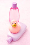 Baby bath accessories Royalty Free Stock Photography