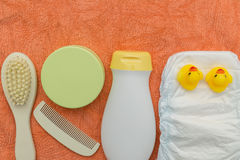 Baby bath accessories Stock Photo