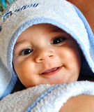 Baby after bath bath time Stock Photos