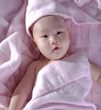 baby after bath  6 royalty free stock photography