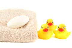 Baby bath soap Stock Images
