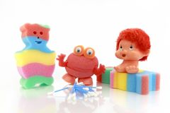 Baby bath sponges for children. Stock Image
