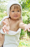 Baby in bath towel Royalty Free Stock Photography