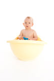 Baby in a bath Royalty Free Stock Photography