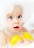 Baby bathing Royalty Free Stock Photo