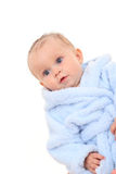 Baby in bathrobe Stock Photography