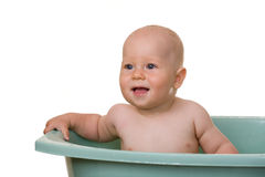Baby in a bathtub Royalty Free Stock Photo