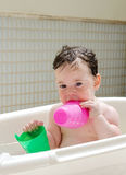 Baby in a bathtub Royalty Free Stock Image