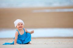 Baby at the beach Stock Photos