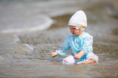 Baby at the beach Royalty Free Stock Image
