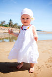 Baby at the beach Royalty Free Stock Photos