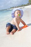 Baby on Beach Stock Photography