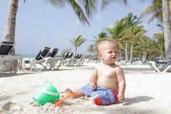 Baby on Beach Stock Image