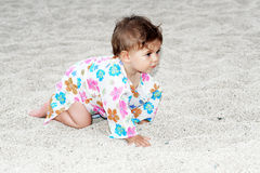 Baby on beach Royalty Free Stock Photography