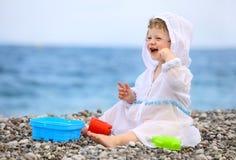 Baby on the beach Royalty Free Stock Photos