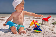 Baby at the beach. Royalty Free Stock Photos