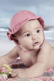 Baby in the beach Stock Photo