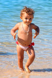 Baby in the beach Royalty Free Stock Images