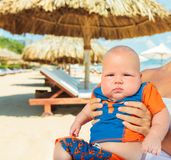 Baby on the beach Royalty Free Stock Photos