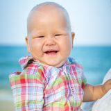 Baby on the beach Royalty Free Stock Images
