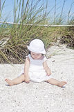 Baby at beach Stock Photography