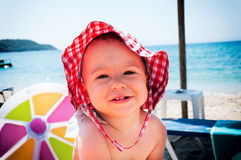 Baby at the beach Royalty Free Stock Photography