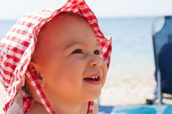 Baby at beach Royalty Free Stock Images